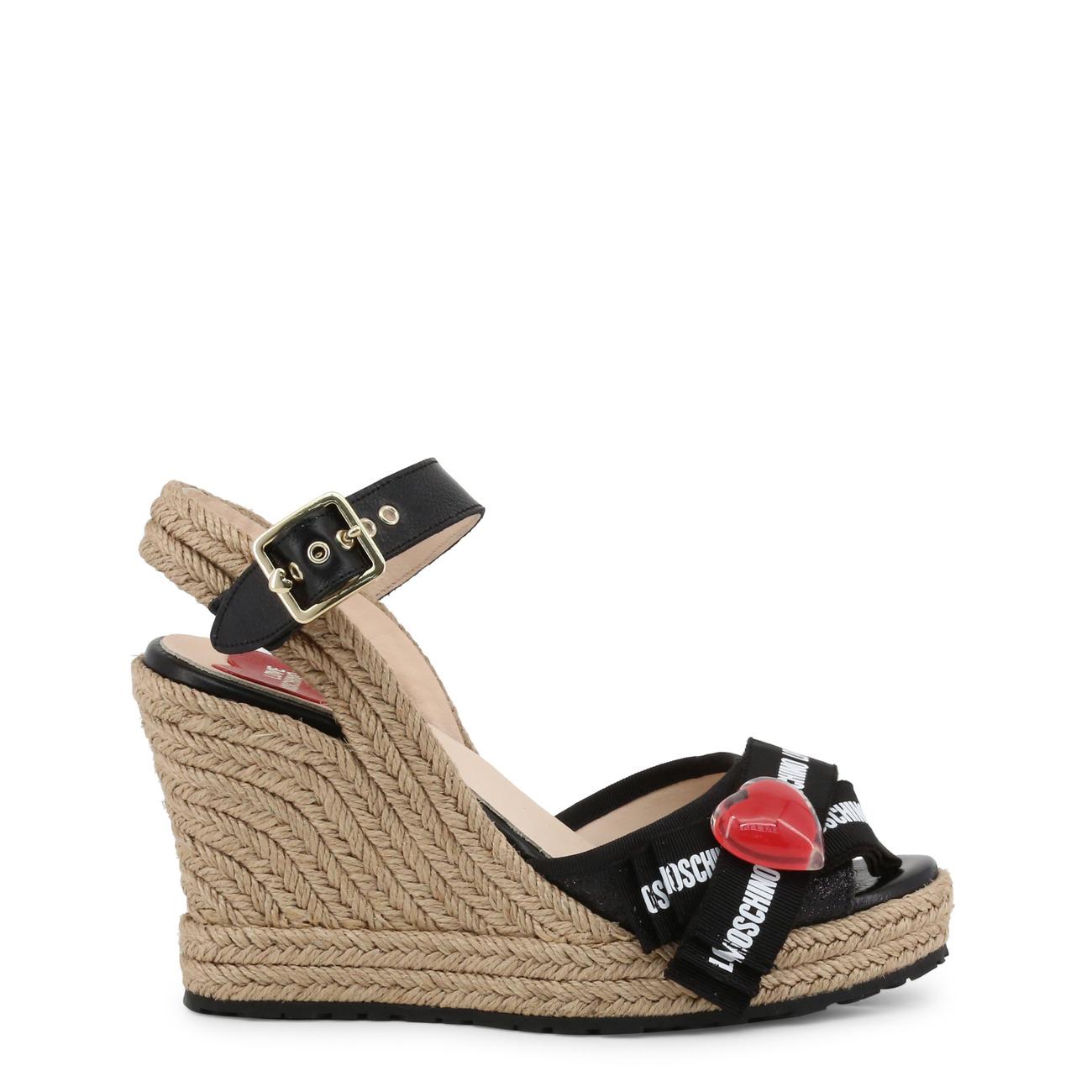 ChaussuresFemmeMoschinoNoir Love Moschino Sur Sandales Détails Ja1631ai07jh tshdQCr