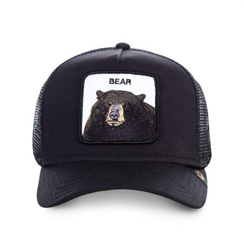GOORIN BROS CASQUETTE BASEBALL TRUCKER SNAPBACK GOORIN 0220-BLK BLACK BEAR GB01BLACKBEAR#1