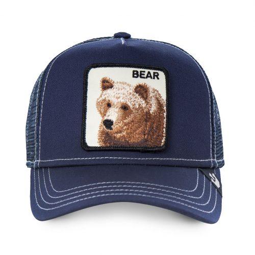 GOORIN BROS CASQUETTE BASEBALL TRUCKER SNAPBACK GOORIN 101-0566-NVY BLUE BEAR GB01BLUEBEAR#1