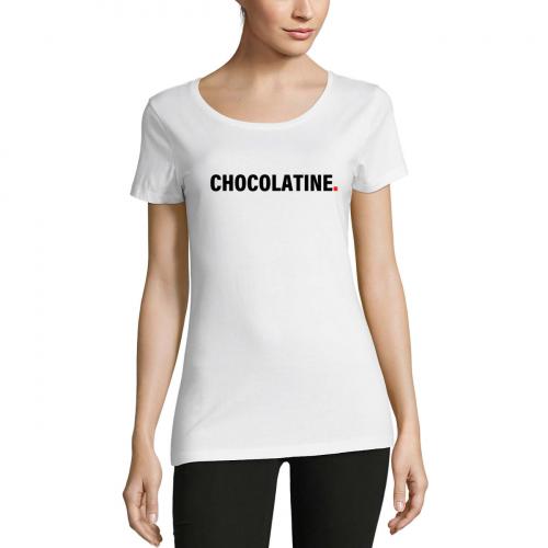 Tshirt-wow-femme-col-rond-blanc-modèle-chocolatine