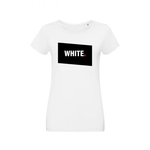 Tshirt-wow-femme-col-rond-blanc-modèle-white