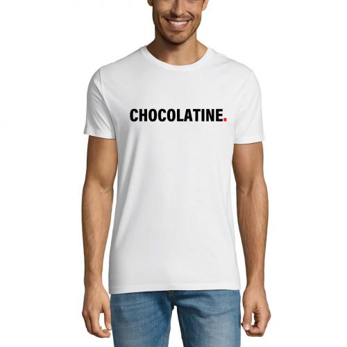Tshirt-wow-homme-col-rond-blanc-modèle-chocolatine