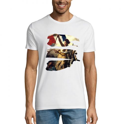 Tshirt-wow-homme-col-rond-blanc-modèle-liberte-#1