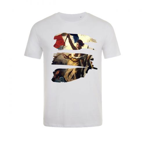 Tshirt-wow-homme-col-rond-blanc-modèle-liberte-#2